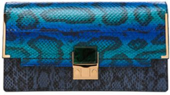 Lanvin Partition Snake Clutch in Animal Printblue - Lyst