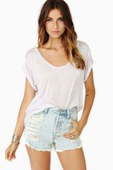 Nasty Gal Sweet Talk Tee Lilac - Lyst