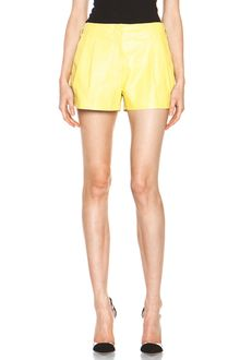 Proenza Schouler Leather Shorts in Yellowneon - Lyst