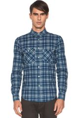 Rag & Bone Trail Shirt in Blue checkered Plaid - Lyst