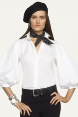 Ralph Lauren Black Label Emmaline Cotton Shirt - Lyst