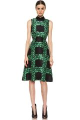 Rodarte Ivy Trellis Print Sleeveless Dress in Black-green - Lyst