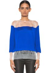 Floating Classic Jumper in Bluewhite