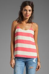Tibi Striped Cami in Pink - Lyst