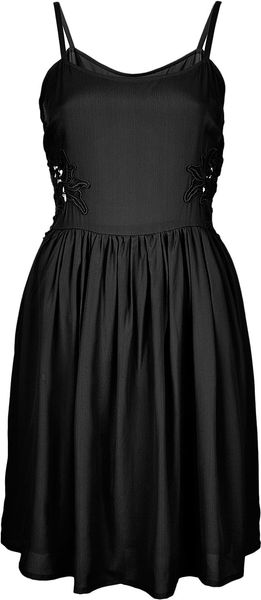 Topshop Tall Strappy Lace Side Dress - Lyst