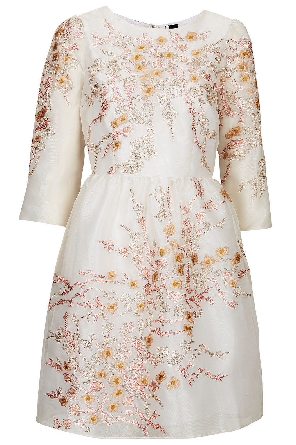 Lyst topshop limited edition organza embroidered dress