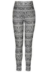 Topshop Maternity Aztec Flock Leggings - Lyst