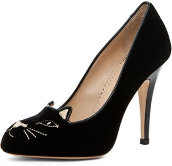 Charlotte Olympia Kitty Heel in Black - Lyst