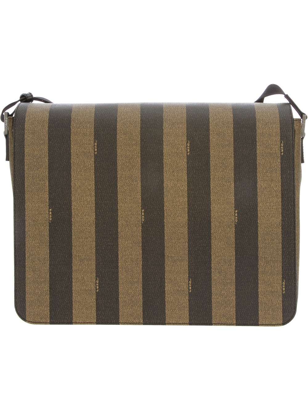 665d32079a Lyst - Fendi Pequin Striped Shoulder Bag in Brown for Men