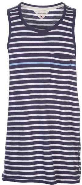 Rag & Bone Thin Stripe Tank Top - Lyst
