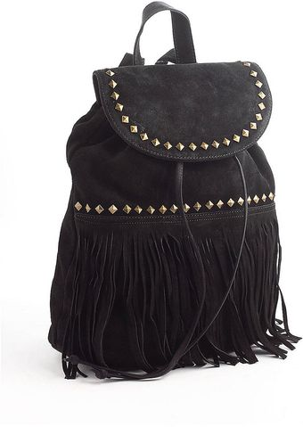Steve Madden Fringed Suede Backpack - Lyst