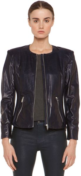 Theyskens' Theory Jadra Nolfora Leather Jacket in Blue - Lyst