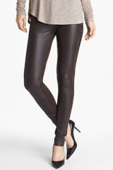 Vince Leather Suede Skinny Pants - Lyst