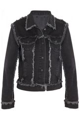 Christopher Kane Frayed Denim Jacket - Lyst