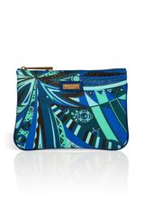 Emilio Pucci Slim Cosmetic Case in Cobaltmulti