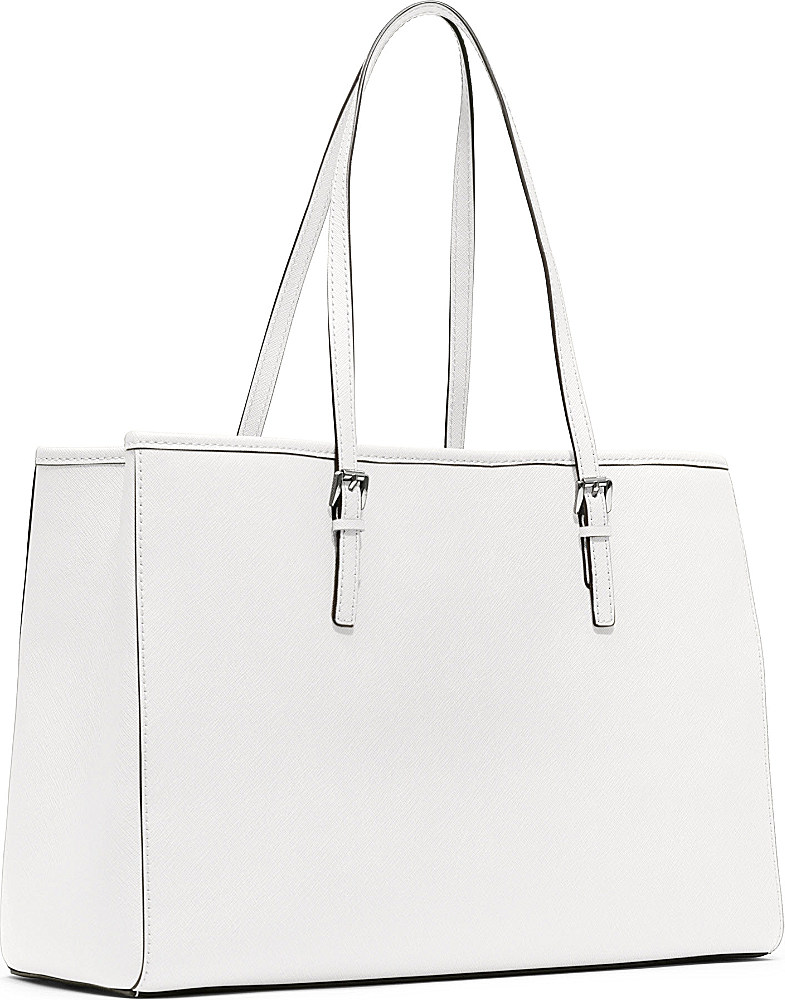d06d1cbe193b Michael Kors Jet Set Travel Large Saffiano Leather Tote in White - Lyst