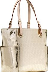 Michael Kors Jet Set Metallic Tote - Lyst