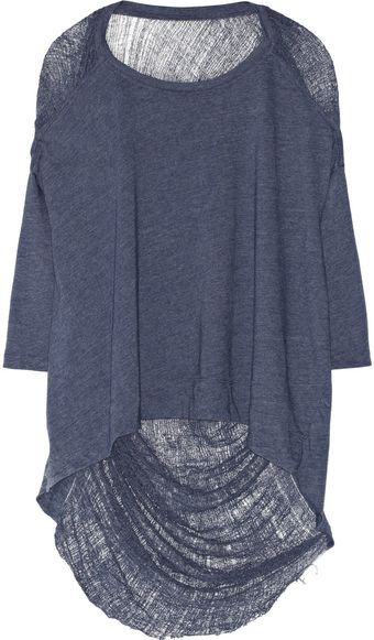 Raquel Allegra Shredded Cottonblend Jersey Top - Lyst