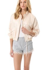 Band Of Outsiders Flight Bomber Jacket - Lyst