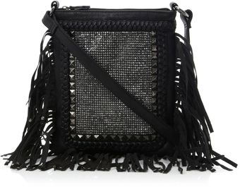 Steve Madden Bjosiee Stud Fringe Cross Shoulder Bag - Lyst