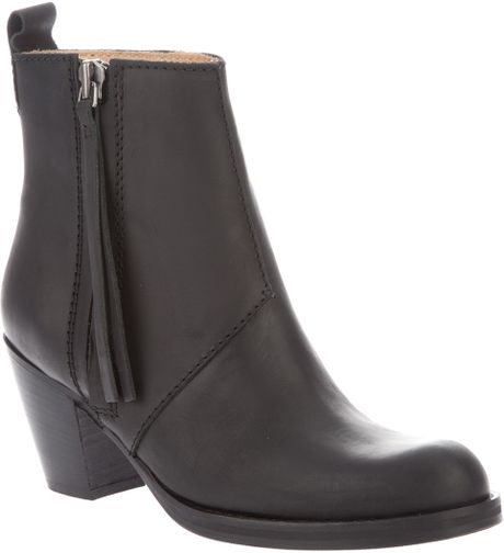 Acne Pistol Short Boot in Black - Lyst