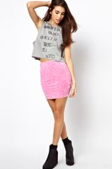 Asos Mini Skirt in Acid Wash - Lyst
