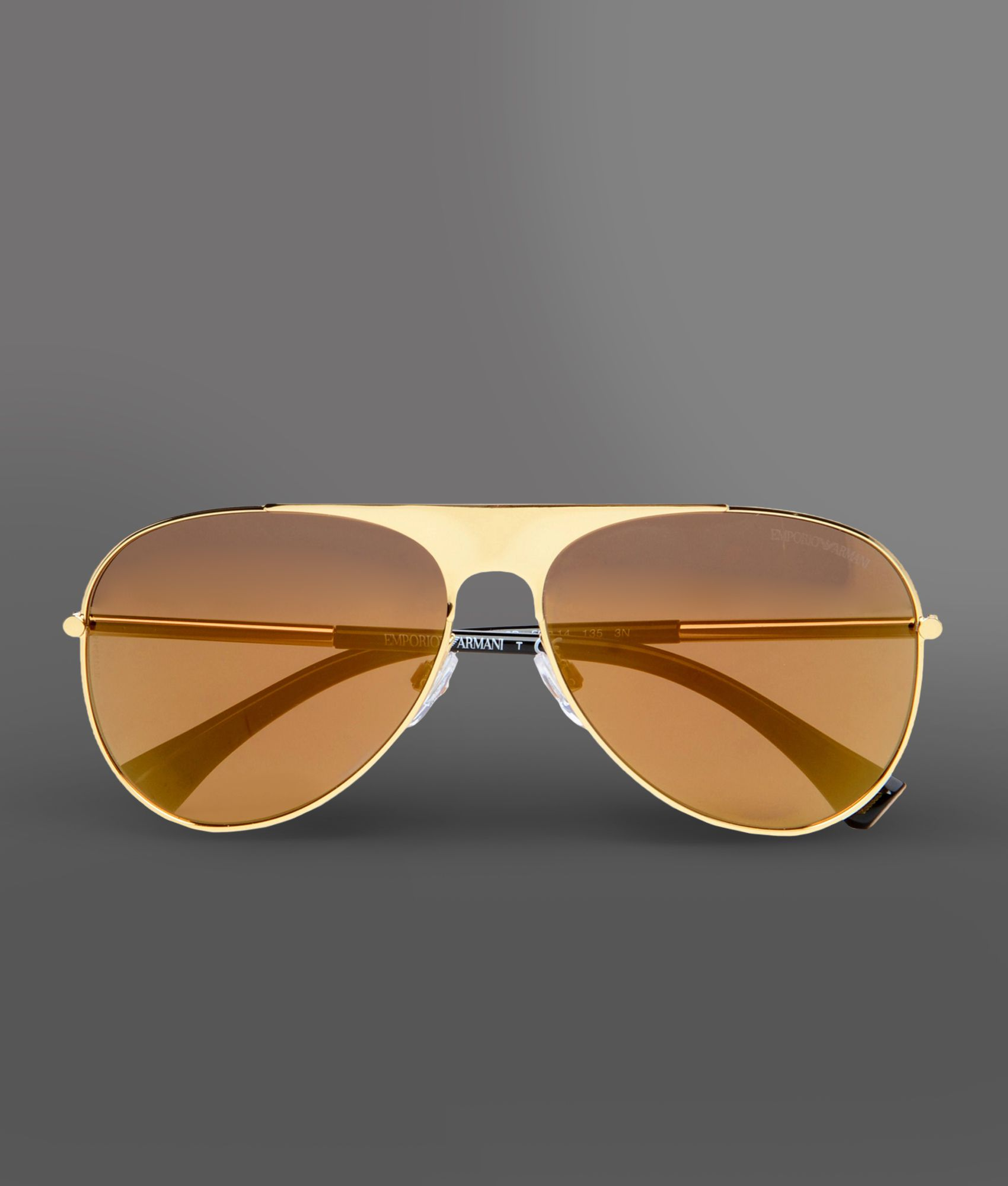 Emporio armani Sunglasses in Gold Lyst