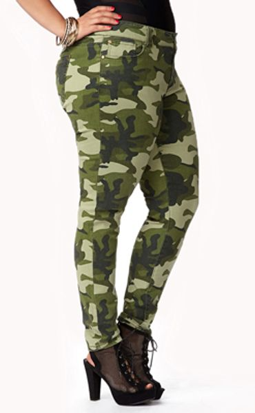 Excellent Forever 21 Camo Leggings In Green (GREEN/BROWN) | Lyst