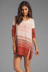 Free People Side Split Pullover Dress in Rust - Lyst