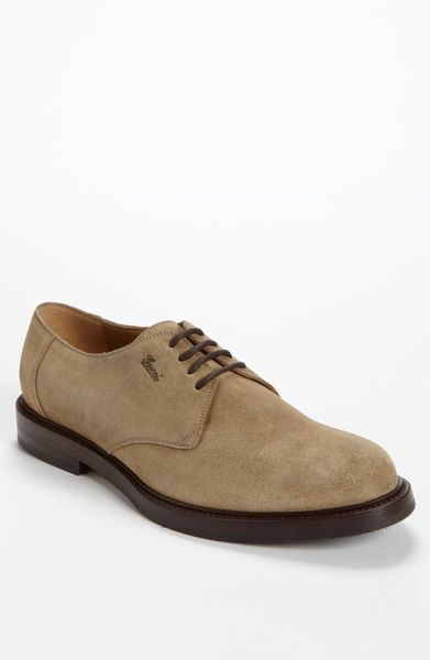 gucci ragona buck shoe in beige for lyst