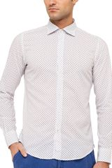 Hartford Slim Fit Anchor Print Shirt - Lyst