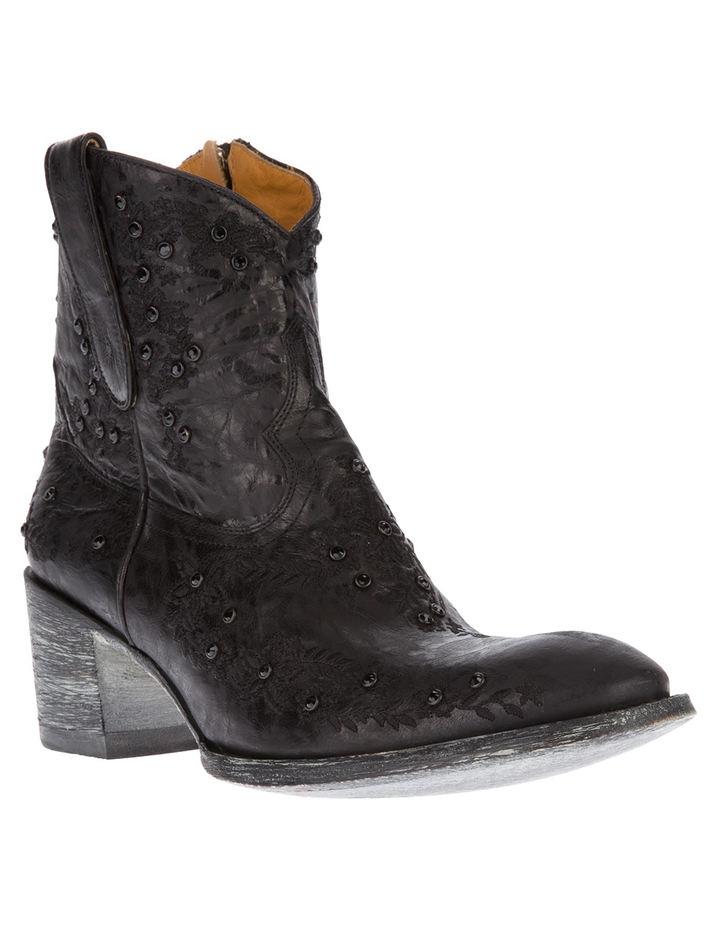 Mexicana Sequin Applique Western Boot In Black Lyst