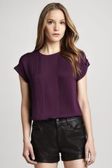 Theory Sellida Pintucked Top - Lyst