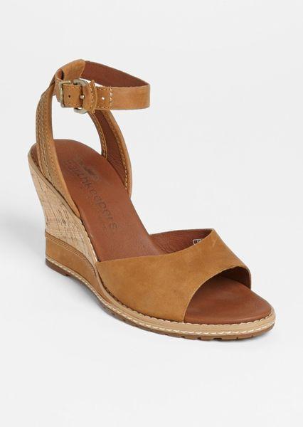 timberland earthkeepers maeslin wedge sandal in brown