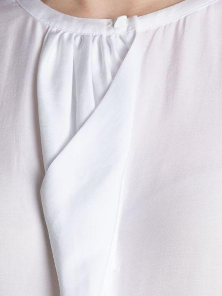 White Short Sleeve Ruffle Blouse 24