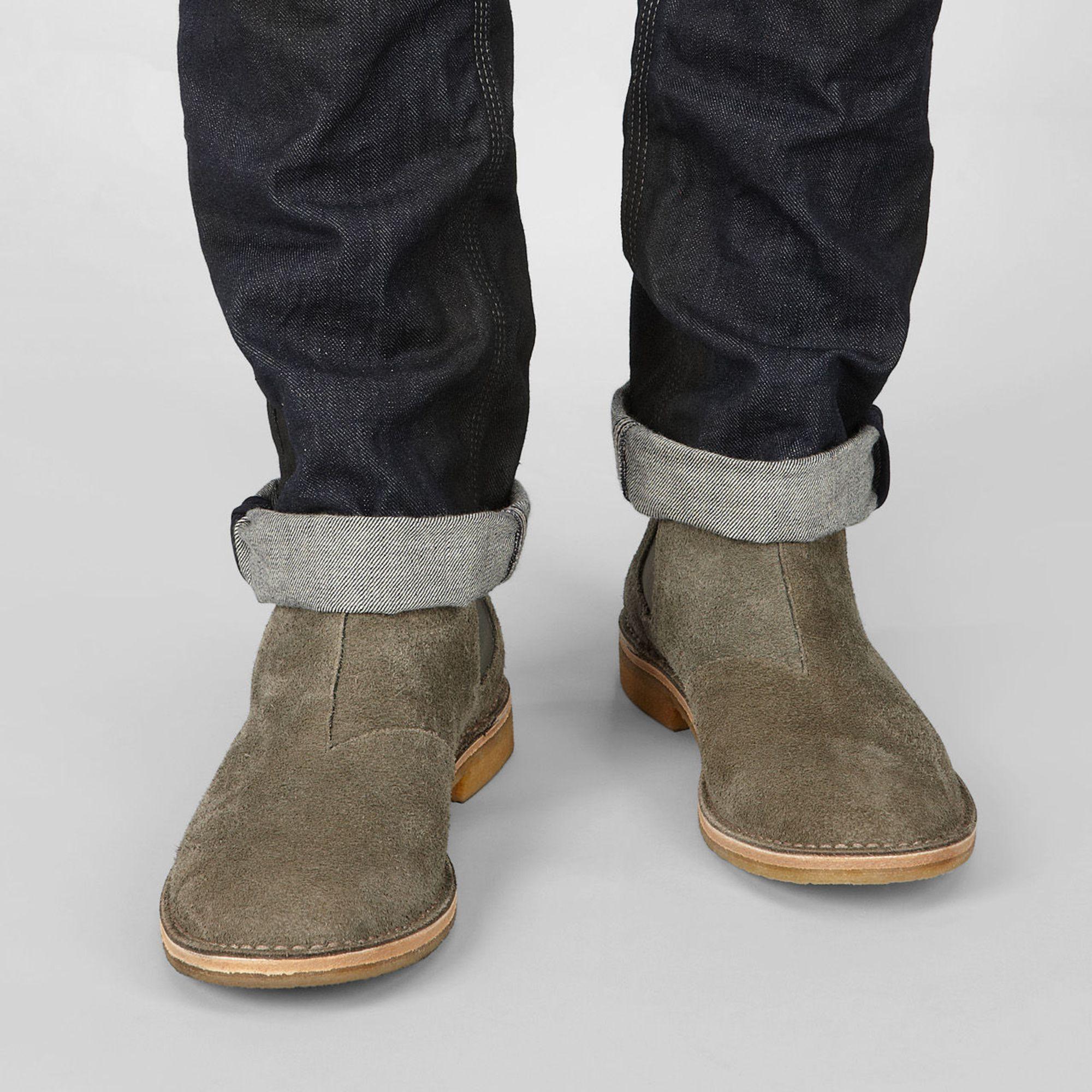 15497bd96596 Lyst - Bottega Veneta Buffalo-Leather Chelsea Boots in Gray for Men