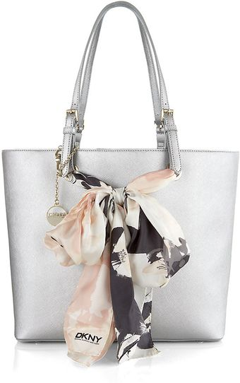 DKNY Saffiano Leather Shopper Bag - Lyst