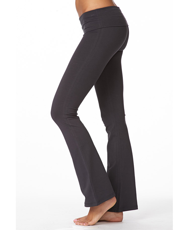Forever 21 Fit Flare Yoga Pants in Gray | Lyst