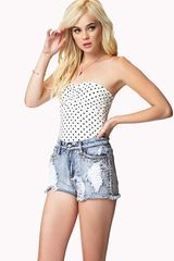 Forever 21 Polka Dot Tube Top - Lyst
