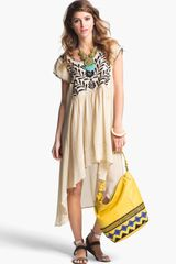 Free People Marina Embroidered Highlow Dress