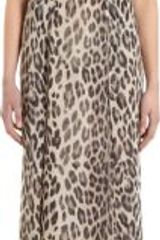 L'Agence Sleeveless Leopard Print Dress - Lyst