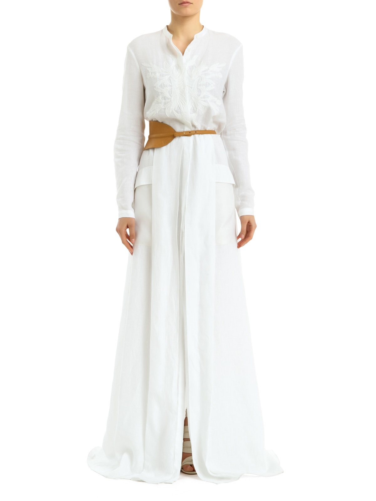 Maiyet Maxi Shirt Dress in White | Lyst