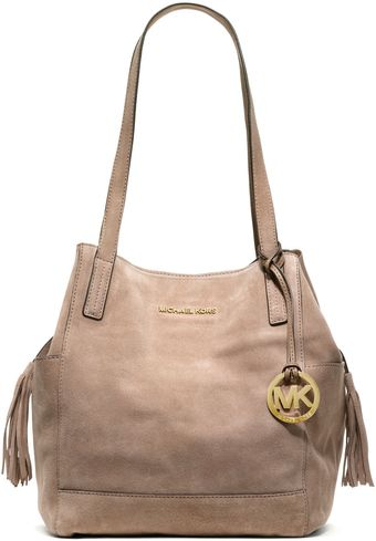 Michael Kors Large Ashbury Suede Grab Bag - Lyst