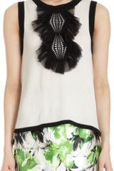 Prabal Gurung Ruffled Crochet Front Sweater Vest - Lyst