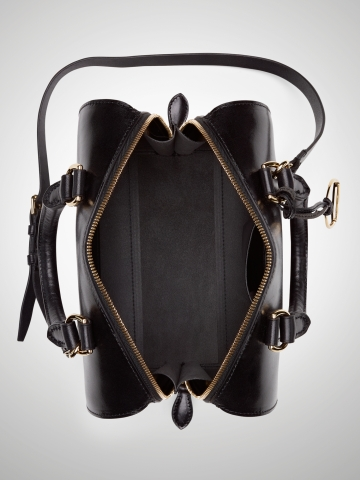 ce32fe91b7 Ralph Lauren Vachetta Small Boston Bag in Black - Lyst