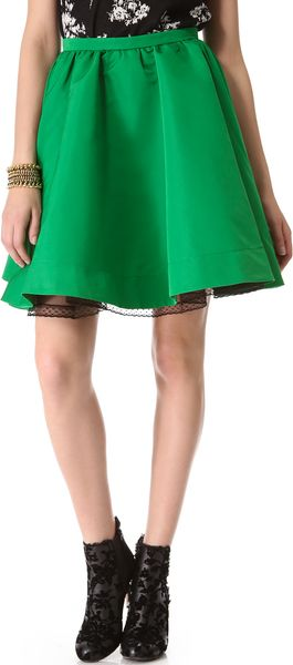 RED Valentino Faille Full Miniskirt - Lyst