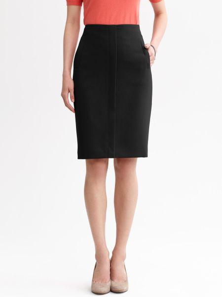 banana republic welt pocket pencil skirt in black lyst