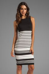 By Malene Birger Wide Stripe Sello Dress in Black - Lyst