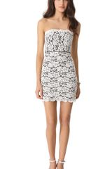 Diane Von Furstenberg Walker Lace Strapless Dress - Lyst