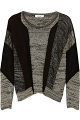 Helmut Lang Colorblock Linen blend Sweater - Lyst